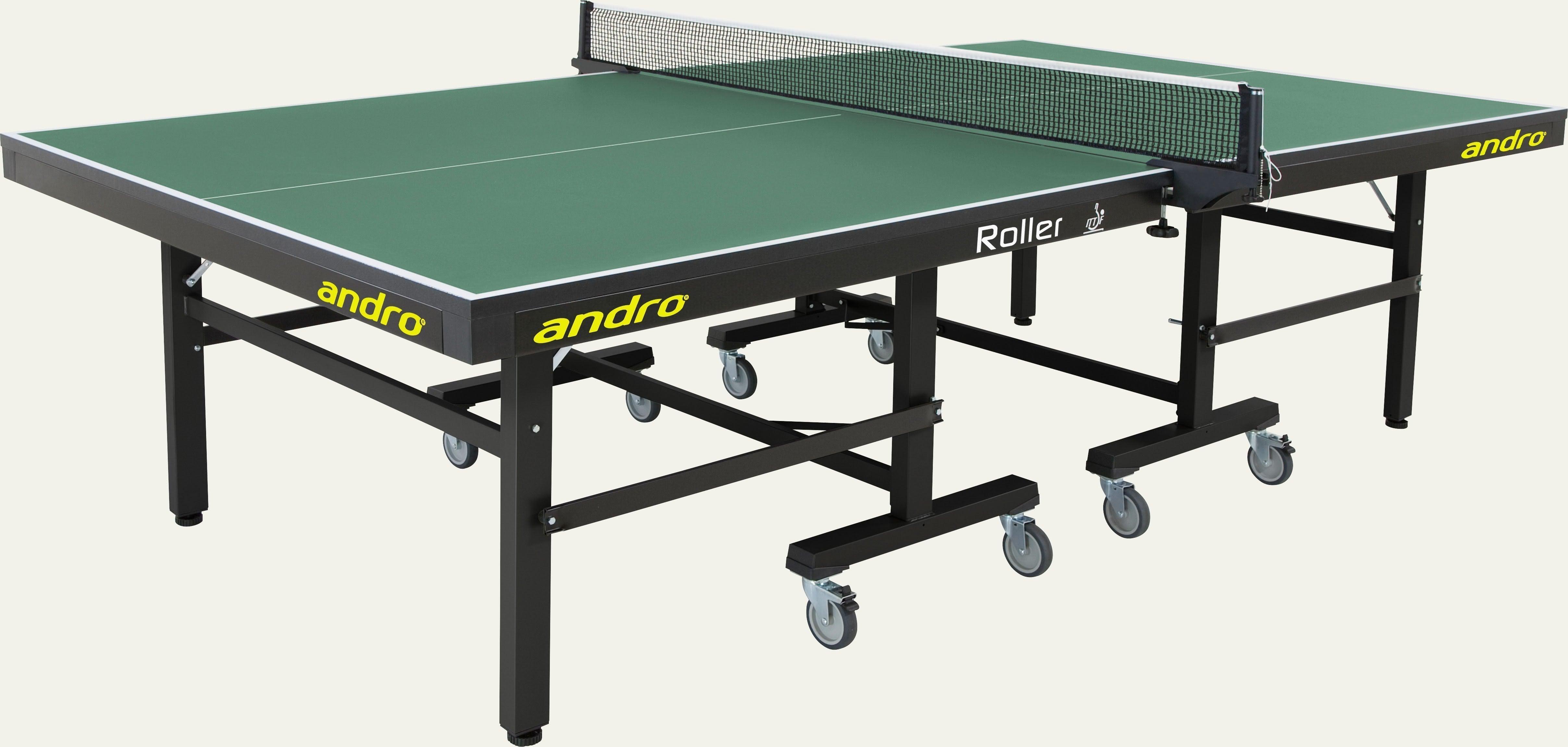 andro roller gr n wettkampftische tische tischtennis sportpoint 24. Black Bedroom Furniture Sets. Home Design Ideas