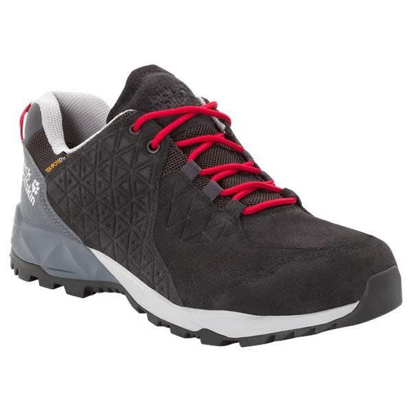 JACK WOLFSKIN CASCADE HIKE LT TEXAPORE LOW M 6047 black / red Herren