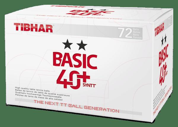 Tibhar Bälle Basic ** 40+ SynTT 72 - er Pack
